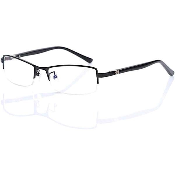超軽量21g 伊達メガネ ブルーライトカット メガネ PCメガネ メンズ 形状記憶 デザイナーズ ファッション UVカット 眼鏡 ハーフリム おしゃれ メガネケース付|ecloset-store|15