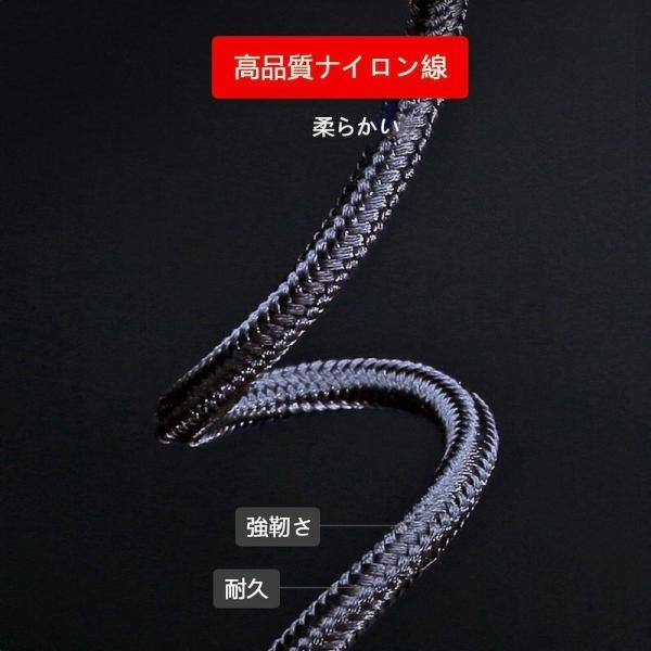 3in1 USB 充電ケーブル 急速充電 iPhoneケーブル 充電器 マイクロ USB C micro Lightning スマホ アイフォーン ナイロン 充電 ケーブル iOS Android|ecloset-store|05