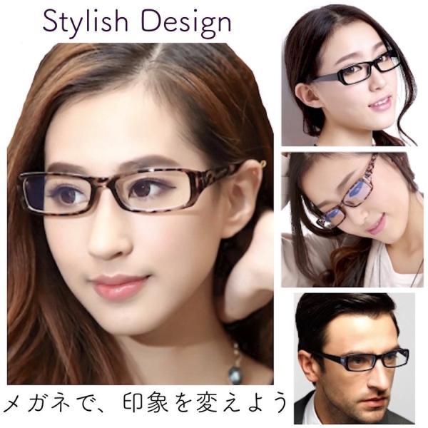 伊達メガネ PCメガネ 花粉症 PM2.5 対策 目の防護 ブルーライトカット 眼鏡 UVカット スクエア型 黒縁 おしゃれ メンズ レディース メガネケース 眼鏡拭き 付|ecloset-store|09