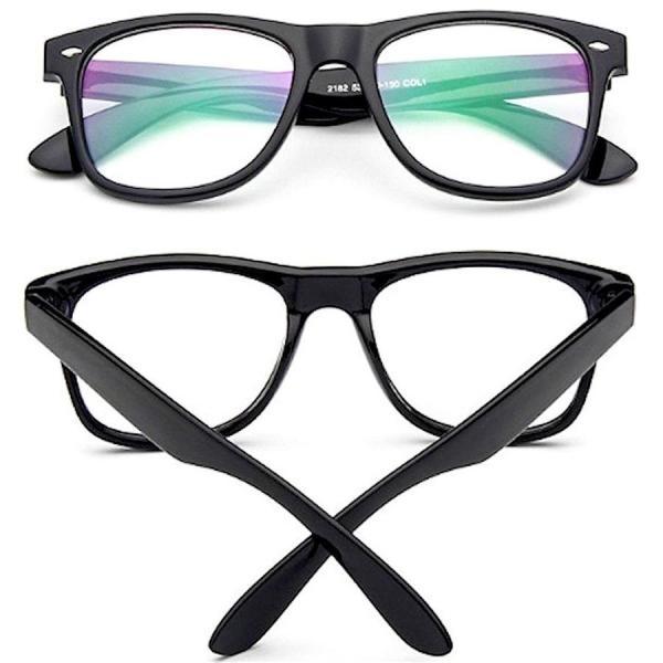伊達メガネ PCメガネ ブルーライトカット 眼鏡 UVカット 花粉症 PM2.5 対策 目の防護 ウェリントン 黒縁 おしゃれ メンズ レディース メガネケース 眼鏡拭き 付|ecloset-store|08