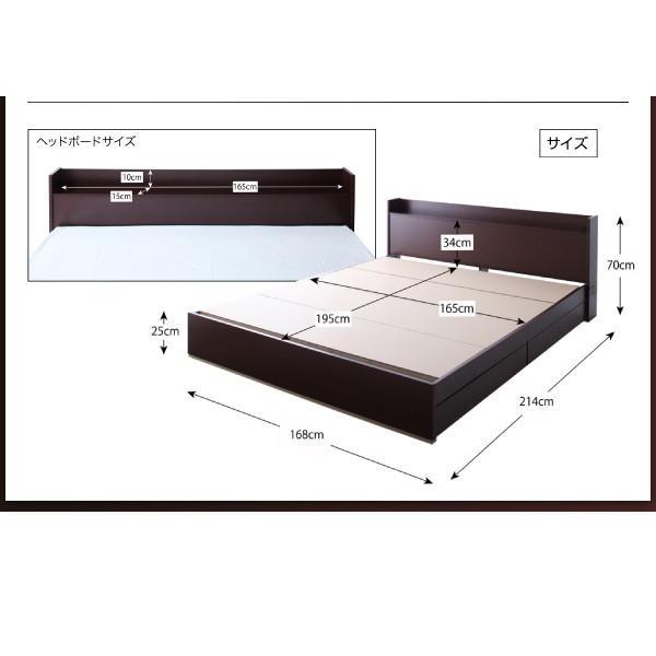 ベッド ベット クイーンベッド クイーン フレームのみ フレーム 収納付き|ecmeubles|03