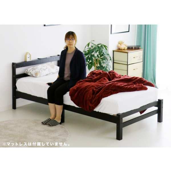 ベッド ベット シングルベッド シングルベット コンセント付き ベッドフレーム 安い|ecmeubles|10