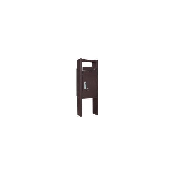 ユニソン 戸建用宅配ボックス コルディアラック 100 右開きタイプ 前入前出 レザーブラウン色