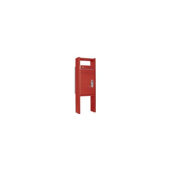 ユニソン 戸建用宅配ボックス コルディアラック 100 左開きタイプ 前入前出 レザーレッド色