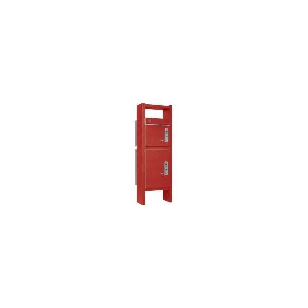 ユニソン 戸建用宅配ボックス コルディアラック 80+100 左開きタイプ 前入前出 レザーレッド色