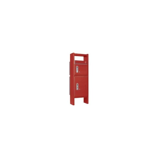 ユニソン 戸建用宅配ボックス コルディアラック 80+100 右開きタイプ 前入前出 レザーレッド色