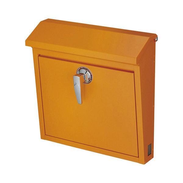 美濃クラフト 郵便ポスト POMO ポモ 鍵付取手 上入前出 ゴールドオレンジ POMO-GO