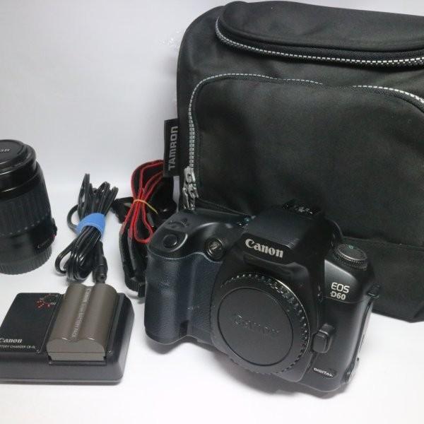 超美品 EOS D60 ブラック ボディ 中古本体 安心保証 即日発送 デジ1 Canon デジタルカメラ 本体