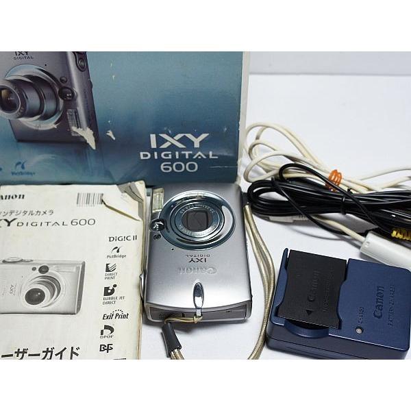 超美品 IXY DIGITAL 600 シルバー 中古本体 安心保証 即日発送 Canon デジカメ デジタルカメラ 本体