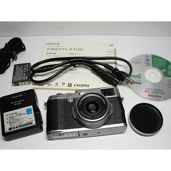美品 FinePix X100 シルバー 中古本体 安心保証 即日発送 FUJIFILM デジカメ デジタルカメラ 本体