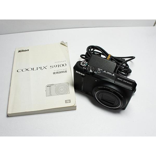 美品 COOLPIX S9100 ノーブルブラック 中古本体 安心保証 即日発送 デジカメ Nikon デジタルカメラ 本体