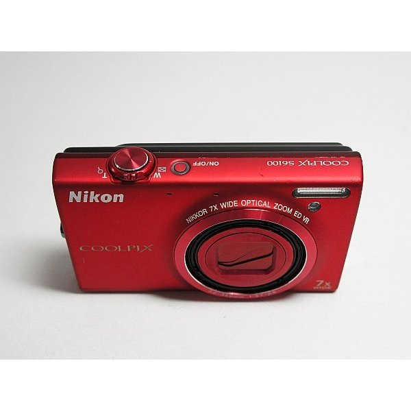 美品 COOLPIX S6100 スーパーレッド 中古本体 安心保証 即日発送 デジカメ Nikon デジタルカメラ 本体