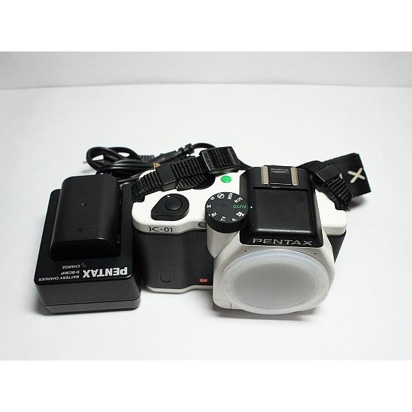 美品 K-01 ホワイト/ブラック ボディ 本体 安心保証 即日発送 デジ1 PENTAX デジタルカメラ 本体
