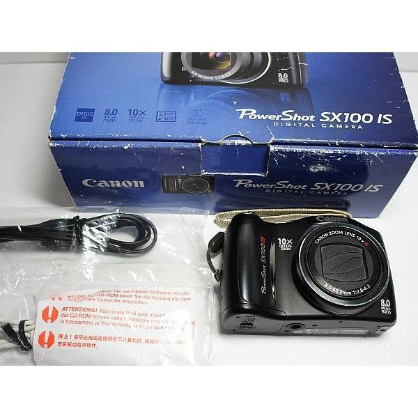 美品 PowerShot SX100 IS ブラック 中古本体 安心保証 即日発送 Canon デジカメ デジタルカメラ 本体