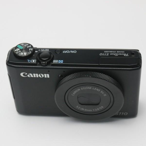 美品 PowerShot S110 ブラック 中古本体 安心保証 即日発送 デジカメ Canon デジタルカメラ 本体
