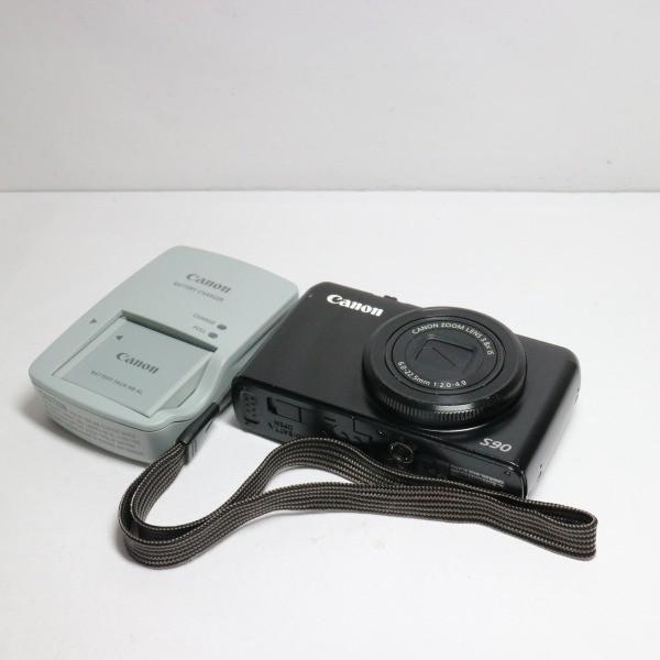 良品中古 PowerShot S90 ブラック 中古本体 安心保証 即日発送 Canon デジカメ デジタルカメラ 本体