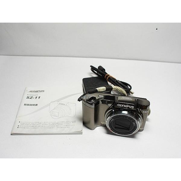 美品 SZ-11 シルバー 中古本体 安心保証 即日発送 OLYMPUS デジカメ デジタルカメラ 本体
