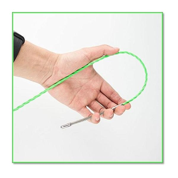 通線ワイヤーラインスリムヘッド通線ワイヤー15Mロッド径4.0mmスチールワイヤー通線・入線専用ワイヤー 0738|eco2|05