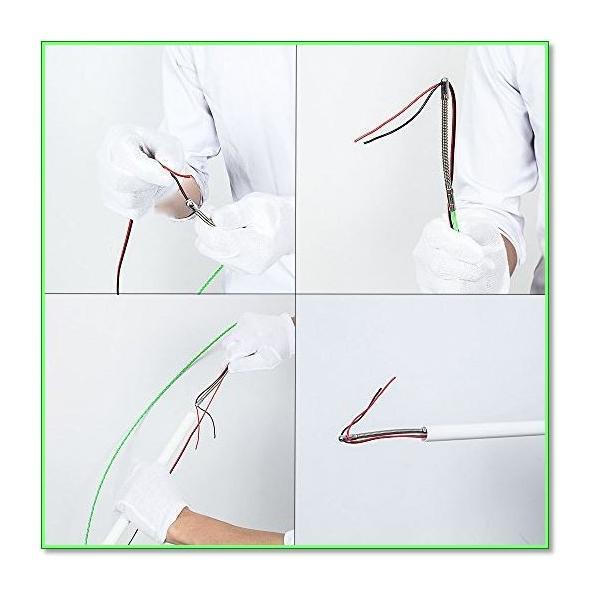 通線ワイヤーラインスリムヘッド通線ワイヤー15Mロッド径4.0mmスチールワイヤー通線・入線専用ワイヤー 0738|eco2|07
