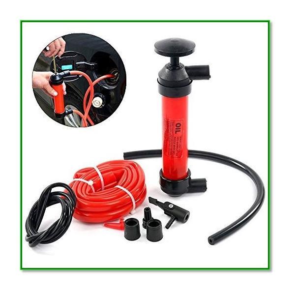 手動式簡易オイル交換ポンプ オイルチェンジャー 車 バイク メンテナンス ガソリン灯油 給油 5L min 1561 eco2