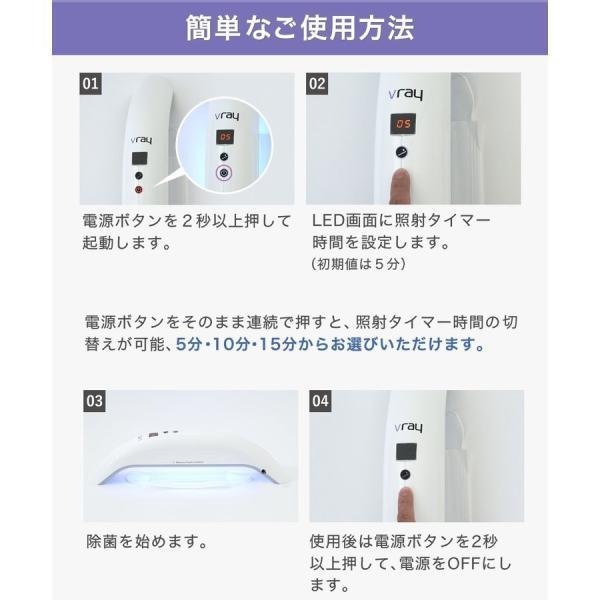 【7月15日発送】Vray 紫外線UV-Cブルーライト家庭用殺菌器 99.9%の除菌力 ecodevice 12
