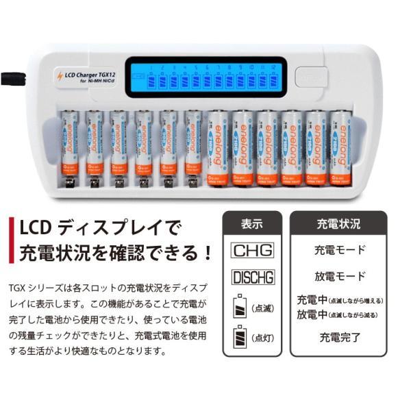 エネループ 充電器  12本同時 TGX12 ニッケル水素充電池用 (宅配便送料無料)|ecojiji|03