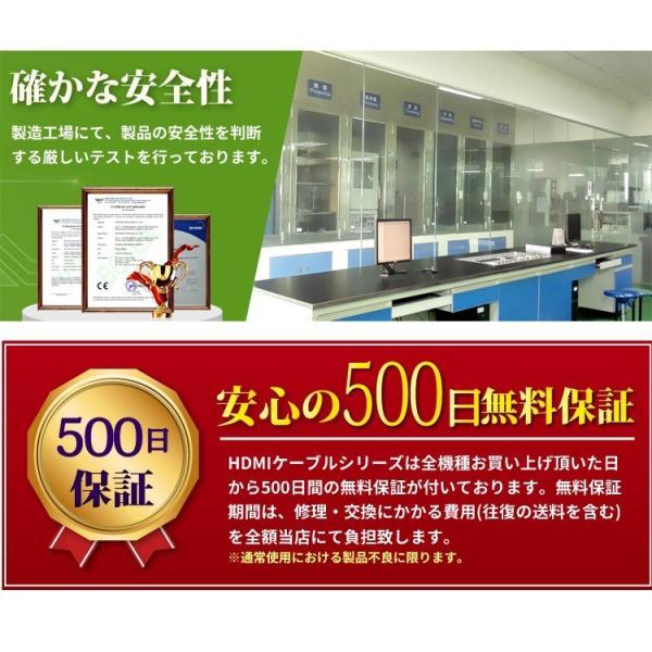 HDMIケーブル 1m 500日保障 Ver.2.0b 4K対応 ハイスペック  (メール便送料無料)|ecojiji|03
