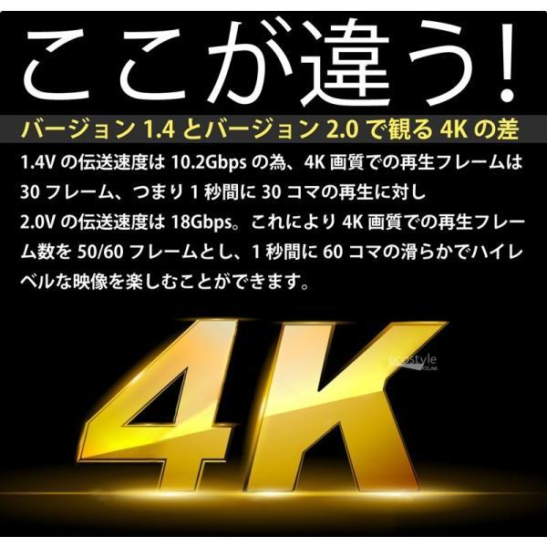 HDMIケーブル 1m 500日保障 Ver.2.0b 4K対応 ハイスペック  (メール便送料無料)|ecojiji|04