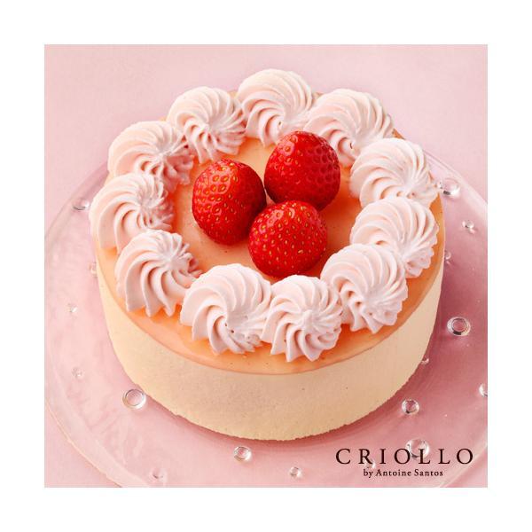 敬老の日 プレゼント ギフト MOMO 桃とバニラのケーキ(12cm)| 冷凍便