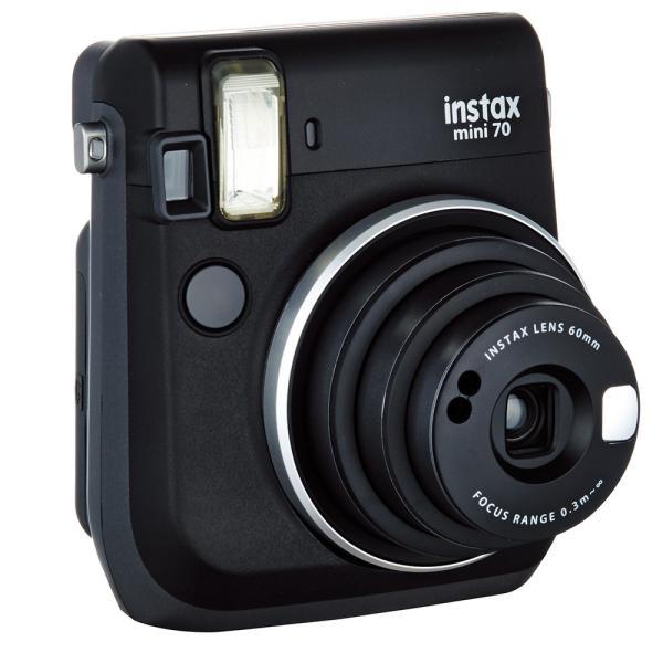 "FUJIFILM<富士フイルム> ""チェキ""instax mini70N ブラック チエキカメラ INS MINI 70N BLACK"