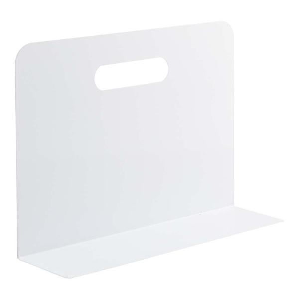 ブックエンド・ワイドタイプ(マグネット付) 白 A7352-0