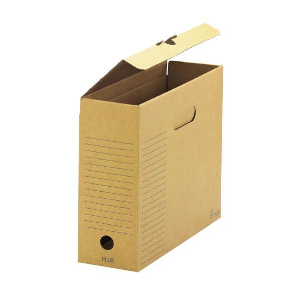 プラス(PLUS) ボックスファイル・フタ付 <再生紙段ボール製> A4-E 背幅100cm FL-081BF 78-090