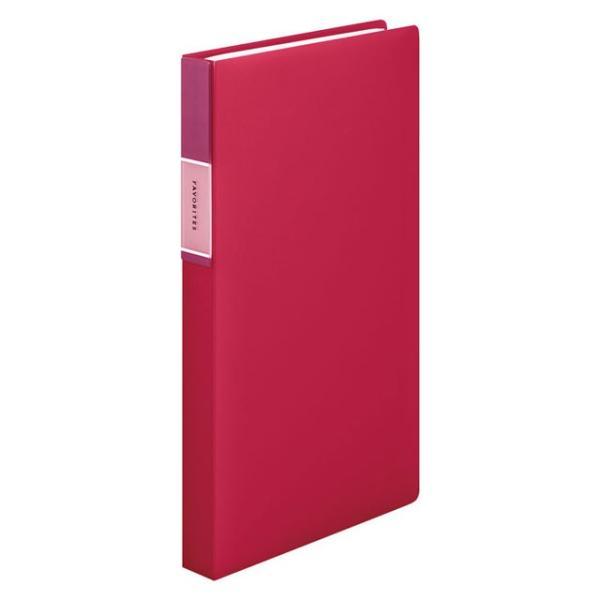 キングジム<KING JIM> フェイバリッツ 名刺ホルダー(透明) コンパクトタイプ 120ポケット 赤 FV22Tアカ