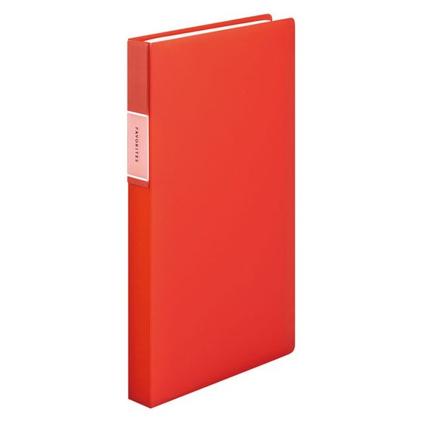 キングジム<KING JIM> フェイバリッツ 名刺ホルダー(透明) コンパクトタイプ 120ポケット オレンジ FV22Tオレ