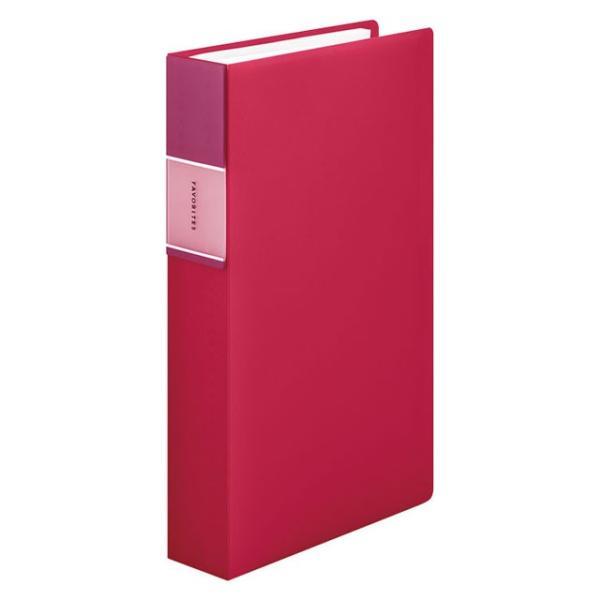 キングジム<KING JIM> フェイバリッツ 名刺ホルダー(透明) コンパクトタイプ 240ポケット 赤 FV22TWアカ