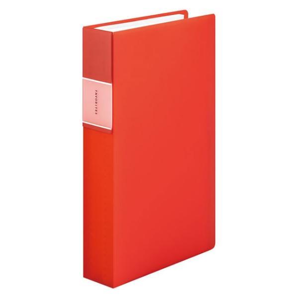 キングジム<KING JIM> フェイバリッツ 名刺ホルダー(透明) コンパクトタイプ 240ポケット オレンジ FV22TWオレ