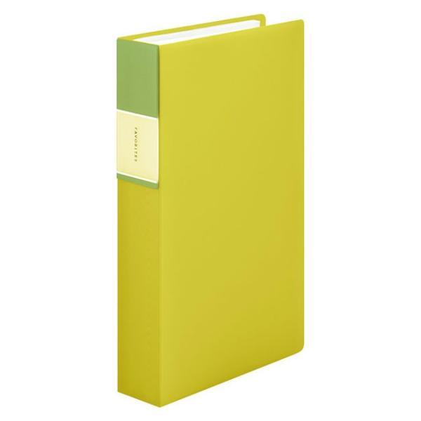 キングジム<KING JIM> フェイバリッツ 名刺ホルダー(透明) コンパクトタイプ 240ポケット 黄色 FV22TWキイ