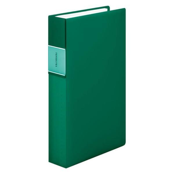 キングジム<KING JIM> フェイバリッツ 名刺ホルダー(透明) コンパクトタイプ 240ポケット 緑 FV22TWミト