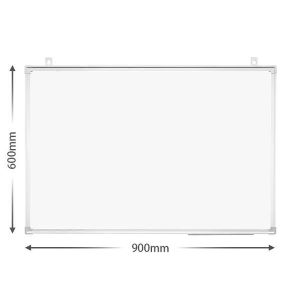 プラス (PLUS) ホワイトボード 904×604mm 壁掛無地 (黒マーカー、イレーザー(小)、ペントレー付) PWK-0906SS 428-170