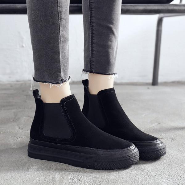 ブーティ ショートブーツ ムートンブーツ スエードシューズ靴 カジュアル マーティンブーツ ぺたんこ靴 レディース 韓国風