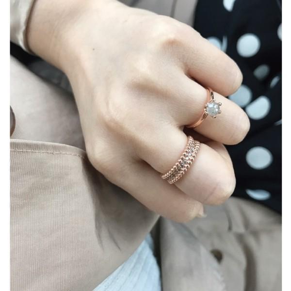 【18金/受注製作】ライトイエローダイヤモンドK18リング 指輪