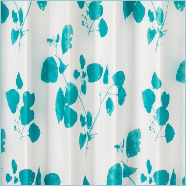 洗えるおしゃれな北欧オーダーカーテン 巾101〜150cm×高201〜250cm(1枚入り) 水彩画タッチのボタニカル アイビー ブルーグリーン サイズオーダー ecurtain 02