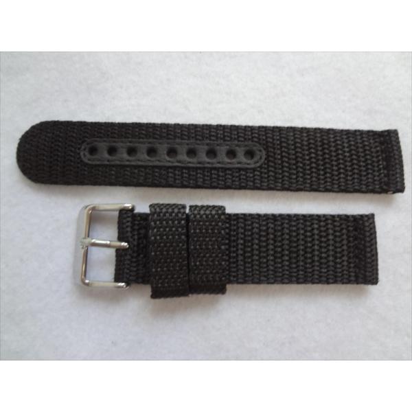 SEIKO 純正バンド 20mm 腕時計 SND399P 7T94-0AL0 7T94-0AH0 7T92-0CX0 7T92-0DX0用 ナイロン 交換ベルト 黒色 黒 ブラック|ecwide