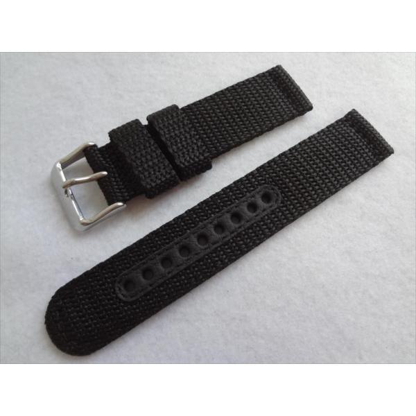 SEIKO 純正バンド 20mm 腕時計 SND399P 7T94-0AL0 7T94-0AH0 7T92-0CX0 7T92-0DX0用 ナイロン 交換ベルト 黒色 黒 ブラック|ecwide|06
