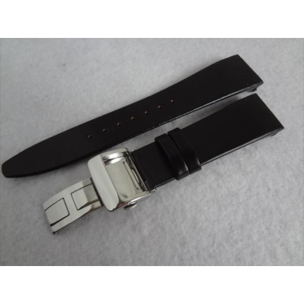 Citizen 純正 コードバン バンド 22mm CNG72-0052用 腕時計ベルト 黒 ブラック バックル付き