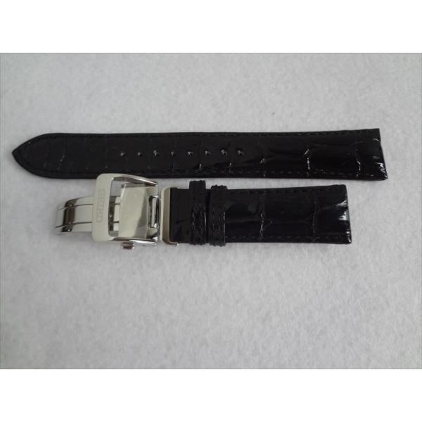 SEIKO 純正 20mm バンド SARX019 , SARW011 , 6R15-02P0 用 レザーベルト クロコダイル ダークブルー プレザージュ