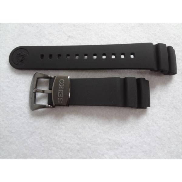 SEIKO純正ベルト PROSPEX SNE441P1 V157-0BT0 用シリコンラバーバンド 20mm プロスペックス 黒色 ブラック|ecwide
