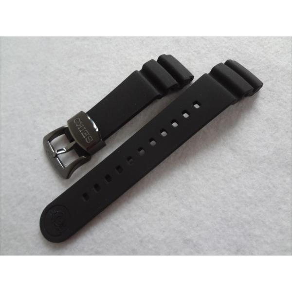 SEIKO純正ベルト PROSPEX SNE441P1 V157-0BT0 用シリコンラバーバンド 20mm プロスペックス 黒色 ブラック|ecwide|04
