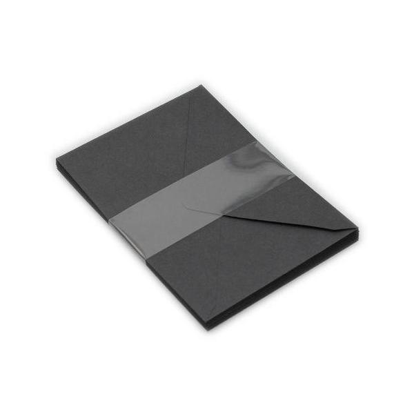 レターセット ボリューム ブラック BLACK  洋2封筒 シンプル 公式通販サイト|edc|03