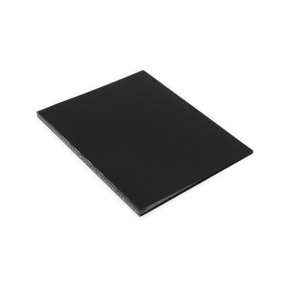 クリアファイル A4 20ポケット ブラック SOLID シンプル 公式通販サイト edc